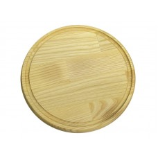 Доска разделочная круглая с жолобом 260 доска д.260*20