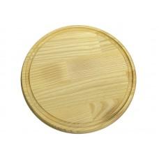 Доска разделочная круглая с жолобом 340 доска д.340*20